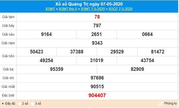 Soi cầu KQXS Quảng Trị 14/5/2020, chốt lô số đẹp