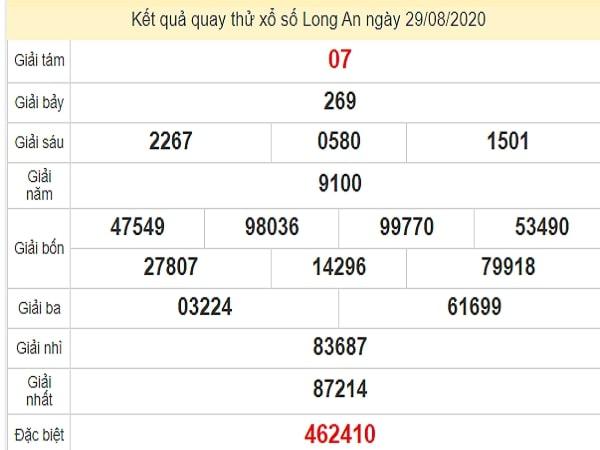 Quay thử XSLA ngày 29 tháng 8 năm 2020