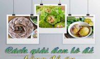 Tìm hiểu những món ăn giúp xả vui hiệu quả