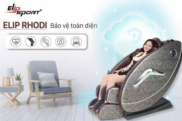 Ghế massage giúp thư giãn đầu óc, xả stress hiệu quả