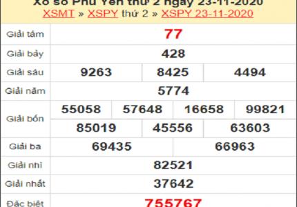 Thống kê XSPY ngày 30/11/2020- xổ số phú yên