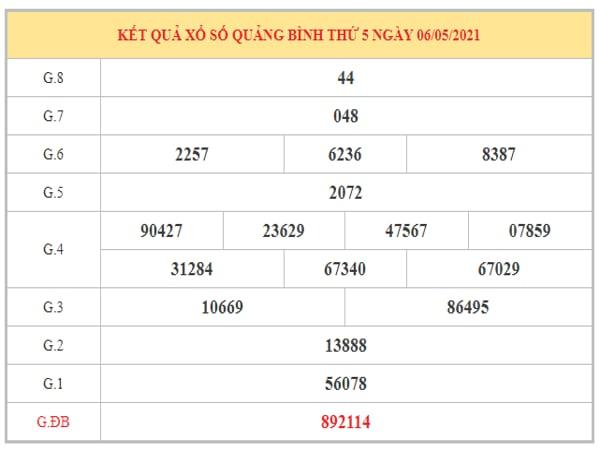 Soi cầu XSQB ngày 13/5/2021 dựa trên kết quả kì trước