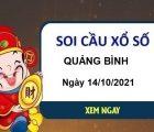 Soi cầu XSQB ngày 14/10/2021